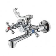 Смеситель ZOLLEN ROSTOCK (арт. RO61421041) для ванны,кор.поворотн.излив,с аксес.
