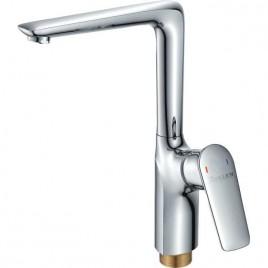 Смеситель ZOLLEN ULM (арт. UL74610832) для кухни высокий-поворотный излив, гайка