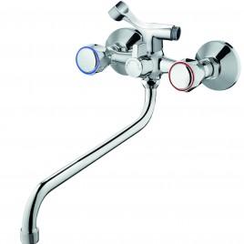 Смеситель ZOLLEN WOLFSBURG (арт. WO62420441) для ванны нижний излив с аксес.